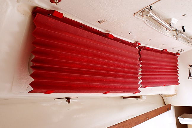 The Curtains Hanging Loose Beneath The Velcro Tabs, Behind (starboard Side).